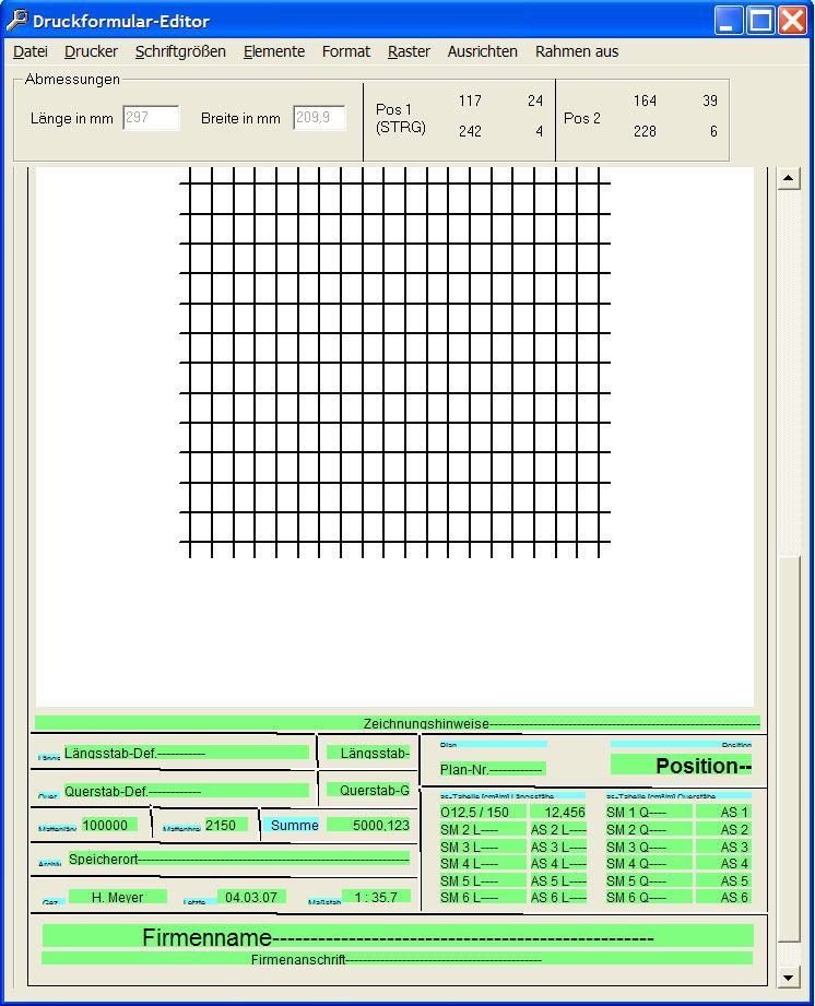 Druckformular-Editor